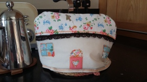 Teacosy, I got to play about with lots of pretty top stitching