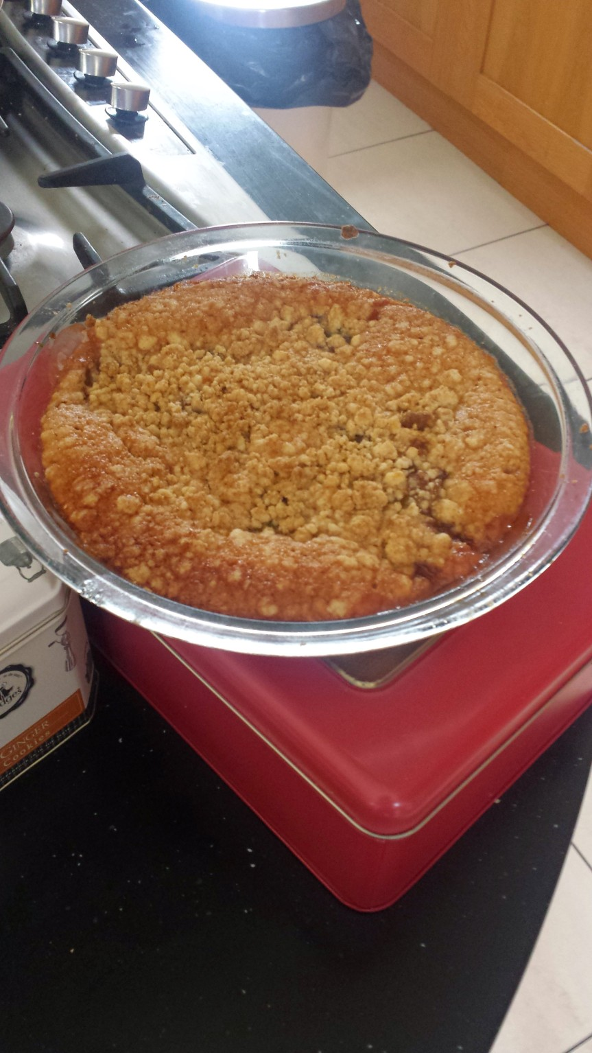 Today I made rhubarb crumble